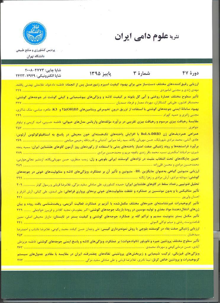 علوم دامی ایران